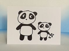 Baby Panda Card - New Baby - Single Parent - Adoption Card - Birthday - Mother's Day Card by penguinparadeshop on Etsy https://www.etsy.com/uk/listing/247620287/baby-panda-card-new-baby-single-parent