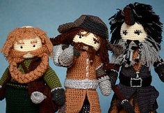 crochet dwarf characters from the hobbit