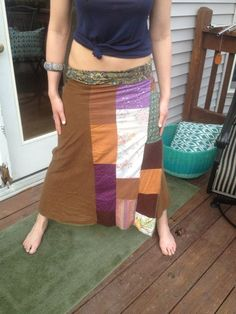 Patchwork wrap skirt Wrap Skirts, Scrappy Quilts, Wrap Around Skirt
