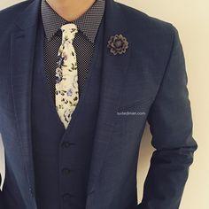"""Outfit details at SuitedManStyle.com   Suit by @hugo_sandiego   Accessories by SuitedMan.com   #suitup @SuitedManStyle"""