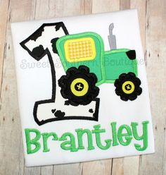 Hey, I found this really awesome Etsy listing at https://www.etsy.com/listing/186020699/tractor-birthday-shirt-first-1st