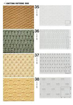 "Photo from album ""Knitting patterns book 1000 on Yandex. Lace Knitting Stitches, Crochet Stitches Patterns, Knitting Charts, Baby Knitting Patterns, Crochet Motif, Stitch Patterns, Sewing Patterns, Pattern Books, Album"