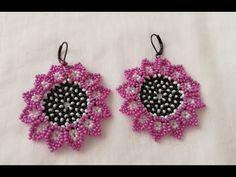 Seed Bead Earrings, Beaded Earrings, Crochet Earrings, Earring Tutorial, Jewelry Making Tutorials, Christmas Jewelry, Baby Knitting Patterns, Bead Weaving, Beads