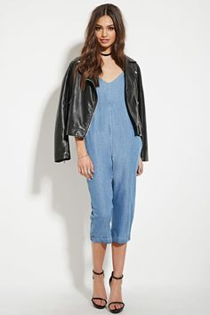 Chambray Cami Jumpsuit | Forever 21 - 2000182598