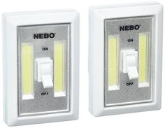 Nebo 6523 Flipit Portable LED Light with 3 AAA Batteries Included (2 pack) - Offers brighter lighting with the new c-o-b technology that gives out intense light. Attach it to anything for hands-free operation using the rotating magnetic clip. Constructed with durable plastic body making it water and impact-resistant. It has a powerful magnetic base