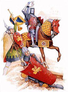 La Pintura y la Guerra. Medieval World, Medieval Knight, Medieval Armor, Medieval Fantasy, Armadura Medieval, Art Of Fighting, Landsknecht, Early Middle Ages, 14th Century