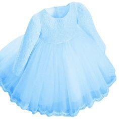 8.22$  Watch now - http://alikc7.shopchina.info/go.php?t=32691520997 - New Elegant Kids Girls Dress Long Sleeve Bowknot Lace Flower Princess Wedding Party Dresses 0-6Y H82 8.22$ #bestbuy
