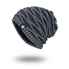 10771291a256e New Winter Autumn Beanies Hat Unisex Warm Soft Skull Knitting Cap Hats Star