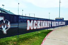 A Mckinney North Printed Mesh Banner Mesh Banner, Mesh Fencing, Ps, Fence, Wrestling, Football, Printed, Sports, Room