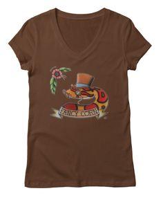 Fancy corn snake women's v-neck tee shirt, custom colors