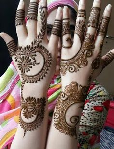 About Mehndi Mehndi is also called Henna. Plant Lawsonia leaves are dried to make a powder called henna. Most Asian women use Mehndi. Mehndi is also used Henna Hand Designs, Dulhan Mehndi Designs, Mehndi Designs Finger, Latest Arabic Mehndi Designs, Mehndi Designs Book, Mehndi Designs For Girls, Mehndi Designs For Beginners, Unique Mehndi Designs, Wedding Mehndi Designs