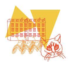 """Kattgränd"" illustration / Tove Wendelin"