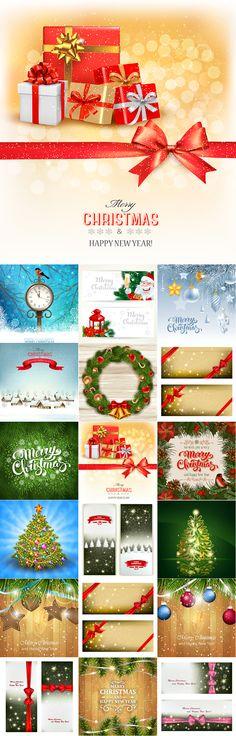Блог Колибри: 2016 Merry Christmas and Happy New Year vector bac...