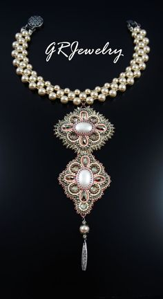 Champagne Pearl Necklace by LiaReed on Etsy, $245.00