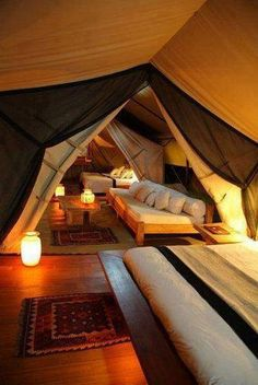 Attic converted to an indoor camp - the grands would love this in the spring time!