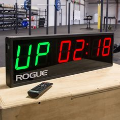 The Rogue Echo Gym Timer delivers a crystal clear LED display with dozens of pre-set and programmable interval settings. Get your new timer at Rogue!