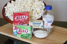 Jello Popcorn! It was a huge hit at the baby shower today.