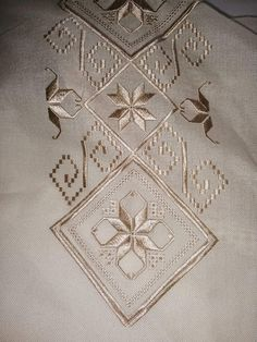 Christmas Embroidery Patterns, Hand Work Embroidery, Embroidery Patterns Free, Learn Embroidery, Ribbon Embroidery, Sewing Blouses, Bargello, Hardanger Embroidery, Thread Work
