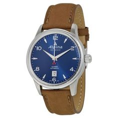 * good size, prefer hashes, terrible band (but can be replaced) - Alpina Watches - Jomashop