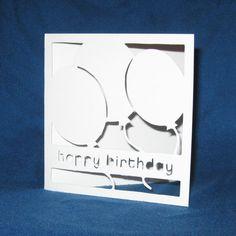 Handmade Card Happy Birthday Balloons by madebystephaniestore, $5.00