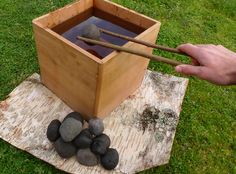 Cedar bentwood boxes were traditionally used to boil or steam many food items