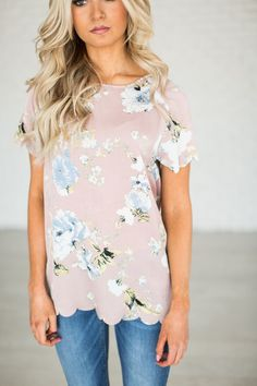Bliss Scallop Tee -