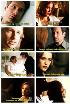 Scully loves Mulder, and Mulder loves Scully