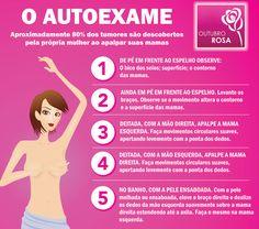 Aprenda auto exame câncer de mama. Outubro Rosa, abrace essa causa! - #outubrorosa