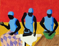 """Acrylic on canvas, """"Tribute to Jacob Lawrence,"""" Otis L. Stanley, Fine Art America."""