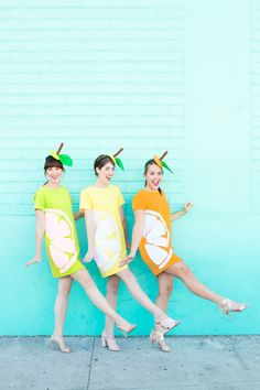 DIY Citrus Slice Costumes