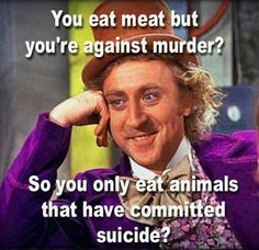 meat is murder on your plate