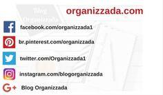 Redes sociais do blog organizzada.