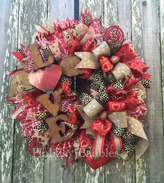 """26"""" LOVE Wreath by Holiday Baubles on Facebook                                                                                                                                                                                 More"""