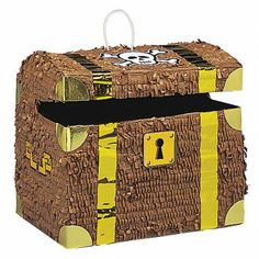 Delight guests at your childs birthday party or pirate theme party with this classic Treasure Chest Pinata. Pirate Party Games, Pirate Party Supplies, Pirate Party Favors, Pirate Theme, Pirate Treasure Chest, Buried Treasure, Photos Booth, Pirate Birthday, 5th Birthday