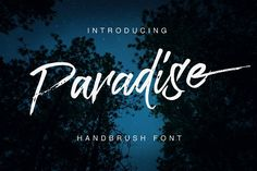 Paradise Typeface is a beautiful hand Painting script give the natural looks
