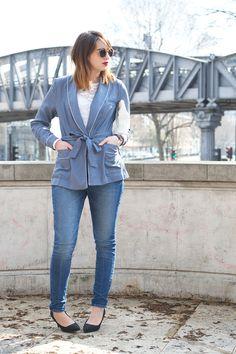 Pyjama jacket - The librarian chic - Blog Mode Beauté Lifestyle à Paris