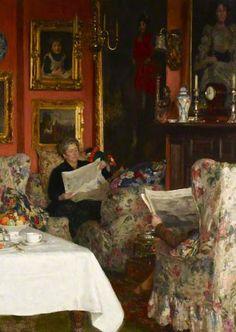 The Breakfast Table, 1921 by Solomon Joseph Solomon (1860-1927)