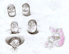 Toy Story caracter studies by ~rain1940 on deviantART