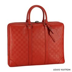 The Porte-Documents Voyage in soft, supple Damier Infini leather makes an elegant choice.