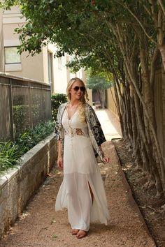 Kimono and maxi dress