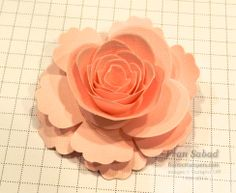 stampersblog: Spiral Roses Many ideas of how to make different size roses from the spiral rose die of stampin up
