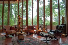 John J. Dobkins House. 1953. Canton, Ohio. Usonian Style. Frank Lloyd Wright