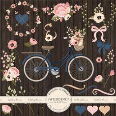 Clipart de boda Premium y vectores Marina de por AmandaIlkov