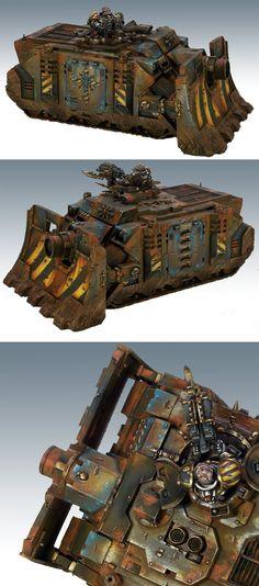40k - Iron Warriors Vindicator by olliekickflip via coolminiornot  I abhor Chaos and the like but I LOVE Vindicators...