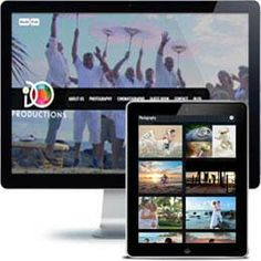 iDO Productions Company website built with PHP/HTML, JQuery using responsive web design.