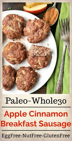 Paleo Sausage Recipes, Homemade Turkey Sausage, Whole30 Sausage, Turkey Recipes, Chicken Recipes, Cooking Recipes, Whole 30 Breakfast, Free Breakfast, Paleo Breakfast