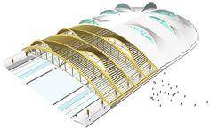 behnisch architekten: speedskating stadium, max aicher arena