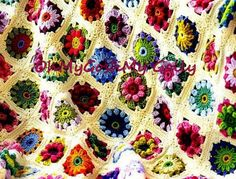 Daisy Crochet Square Afghan Pattern