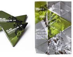 Triangle folding flyer scales down from a3 to pocket size and the beauty of it it holds its shape.