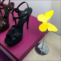 Neiman Marcus® Curated Butterfly – Fixtures Close Up Christian Louboutin Heels, Louboutin Shoes, Store Signs, Bright Yellow, To Focus, Neiman Marcus, Butterflies, Pumps, Shoes Style